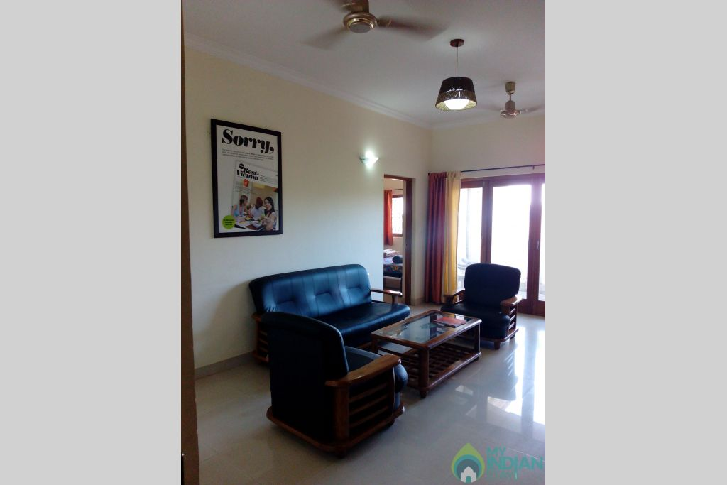 Sitting Area-2 in a Serviced Apartment in Dona Paula, Goa