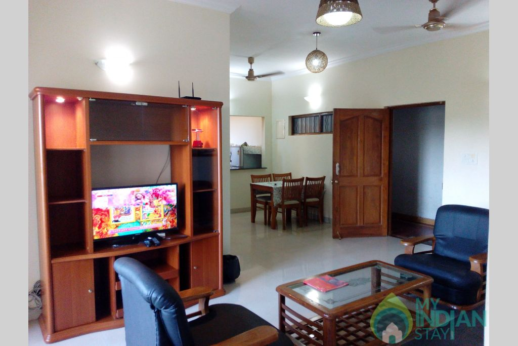 View of Entire Appt-1 in a Serviced Apartment in Dona Paula, Goa