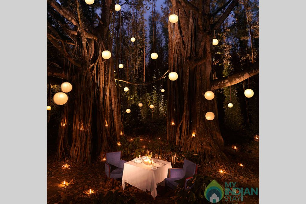 romantic-candle-lit-private-dinners-at-serai-chikmagalur in a Villa in Chickmagaluru, Karnataka