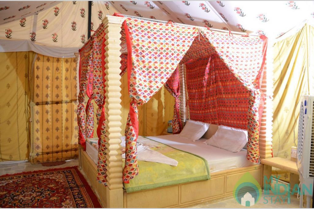 deluxe tents in a Tents in Jaisalmer, Rajasthan