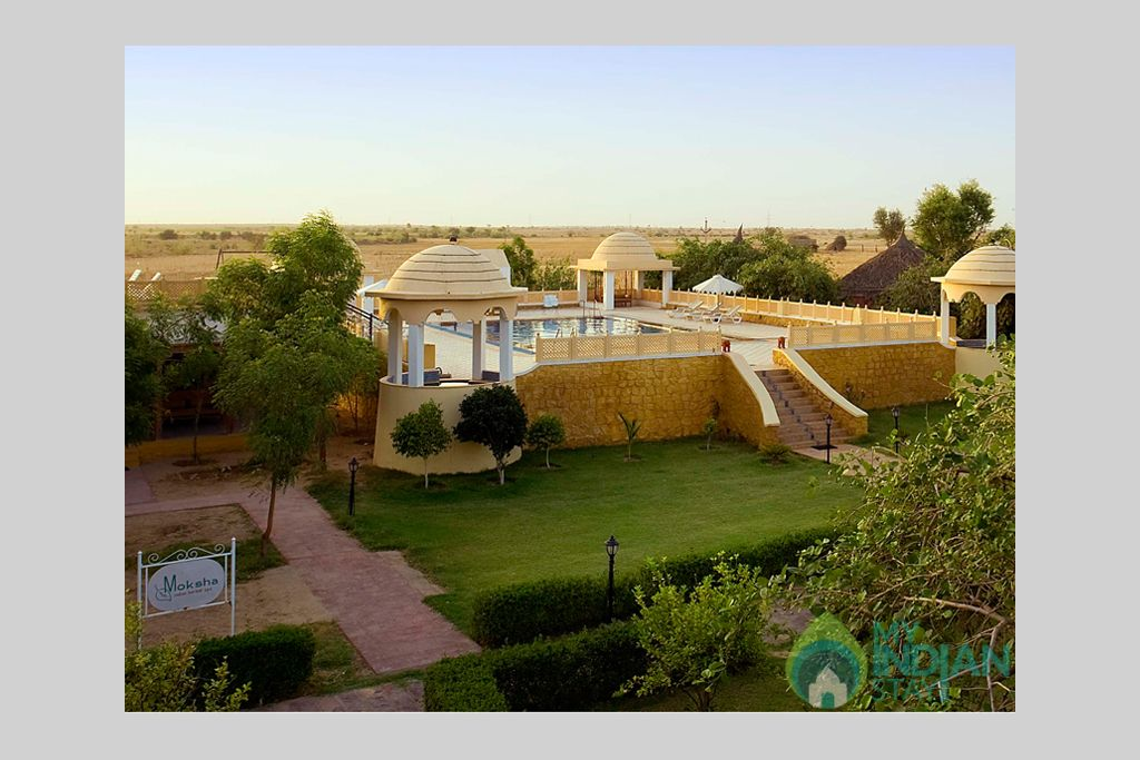 Hotel-Swimming-Pool-View in a Tents in Jaisalmer, Rajasthan