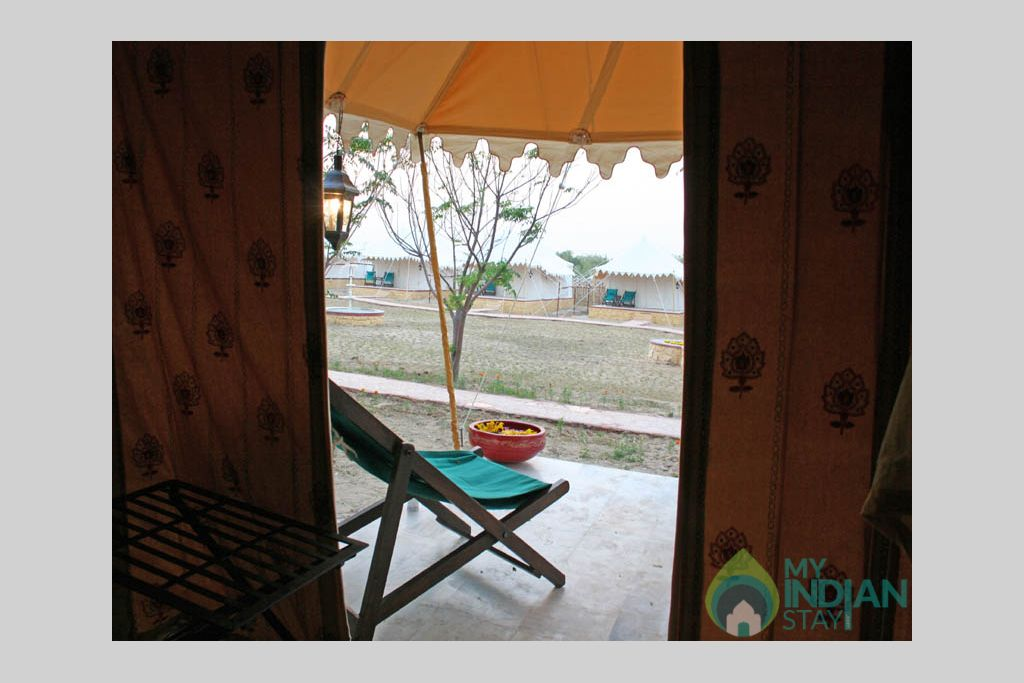 room-view in a Tents in Jaisalmer, Rajasthan