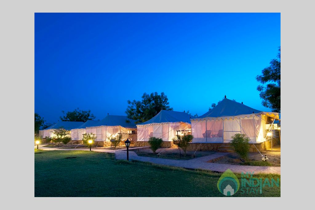 2-Deluxe-Camp-Exterior in a Tents in Jaisalmer, Rajasthan