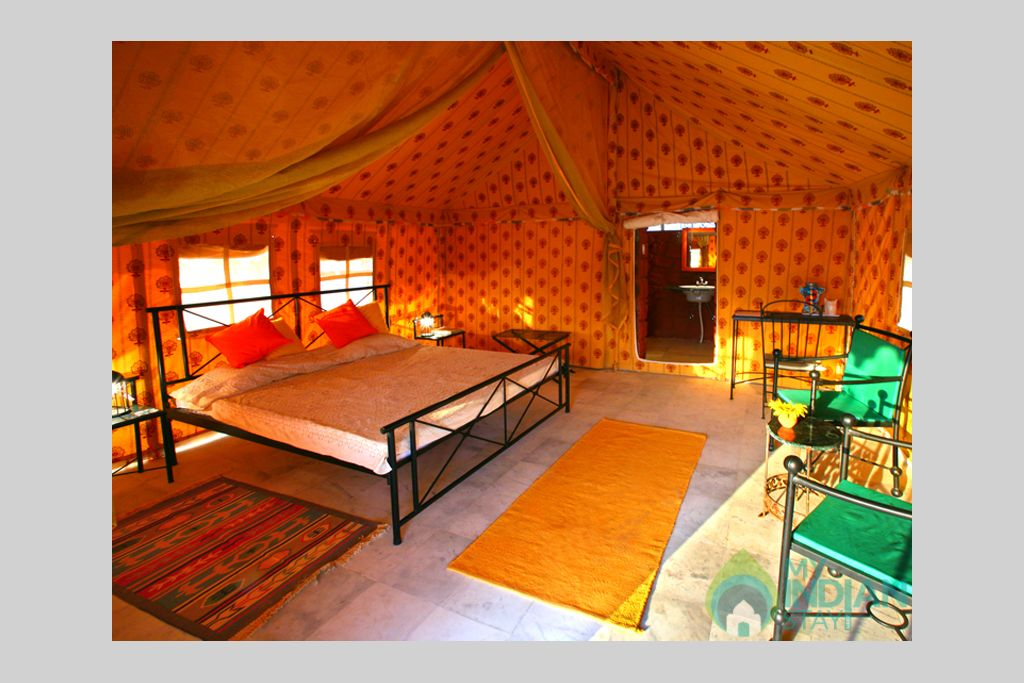 6-Deluxe-Tent-Interior in a Tents in Jaisalmer, Rajasthan