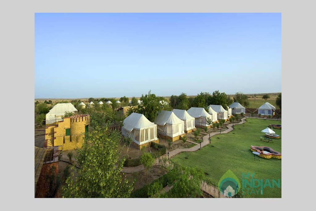 Camp-view in a Tents in Jaisalmer, Rajasthan