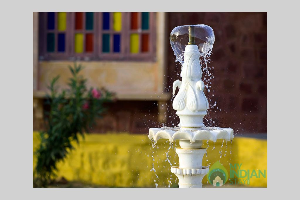 Fountain-near-Premium-Cottages in a Tents in Jaisalmer, Rajasthan
