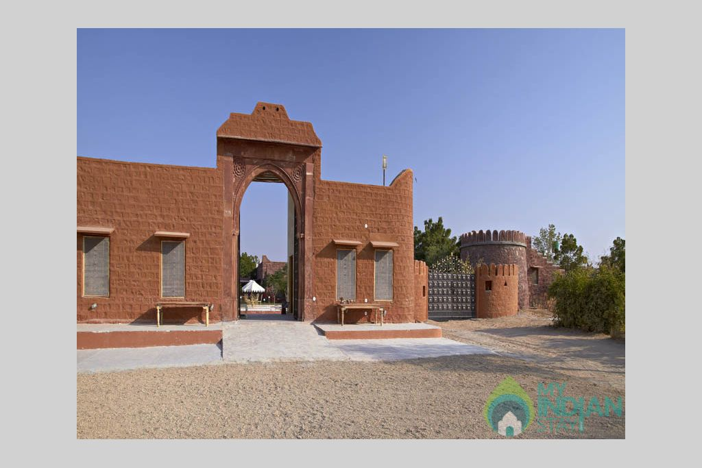 Front-gate in a Cottage/Huts in Jaisalmer, Rajasthan