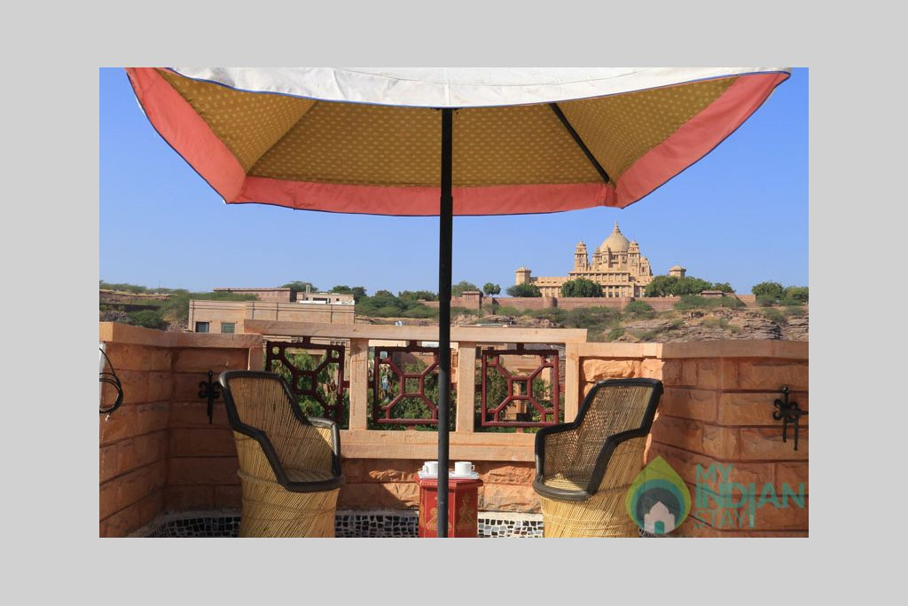 Terrace-1 in a Bed & Breakfast in Jodhpur, Rajasthan
