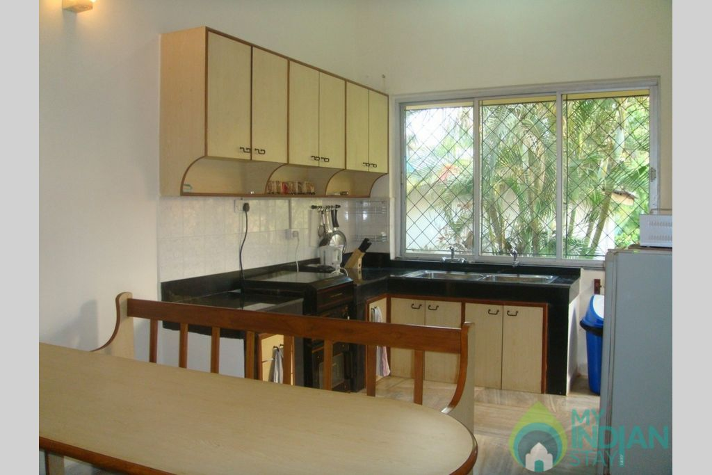 kitchen in a Villa in Candolim, Goa