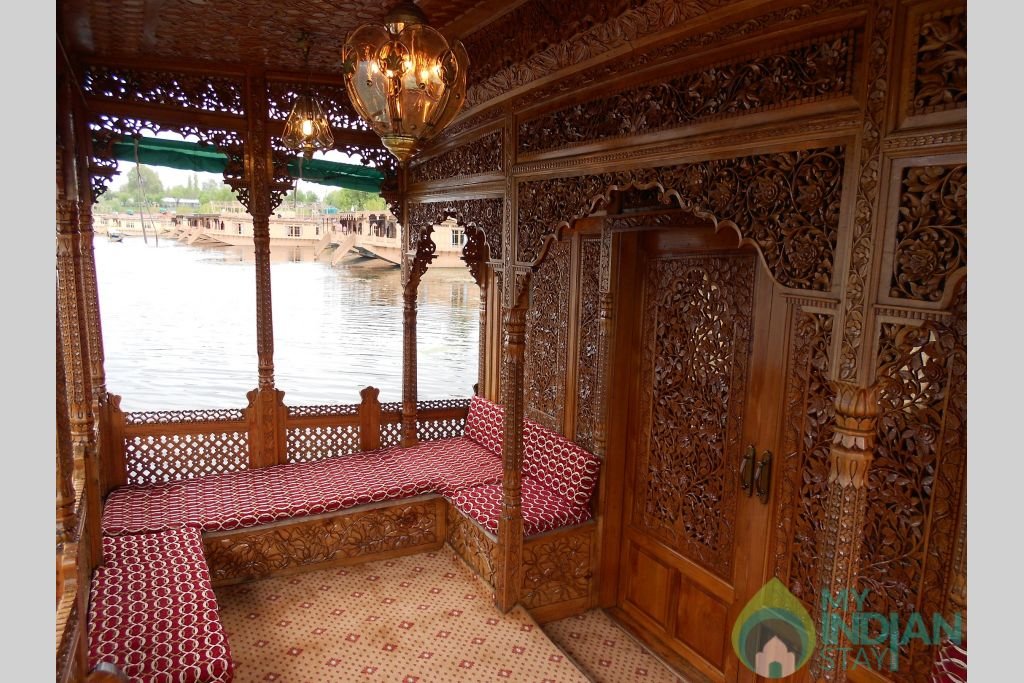 Interior in a Boat in Srinagar, Jammu and Kashmir
