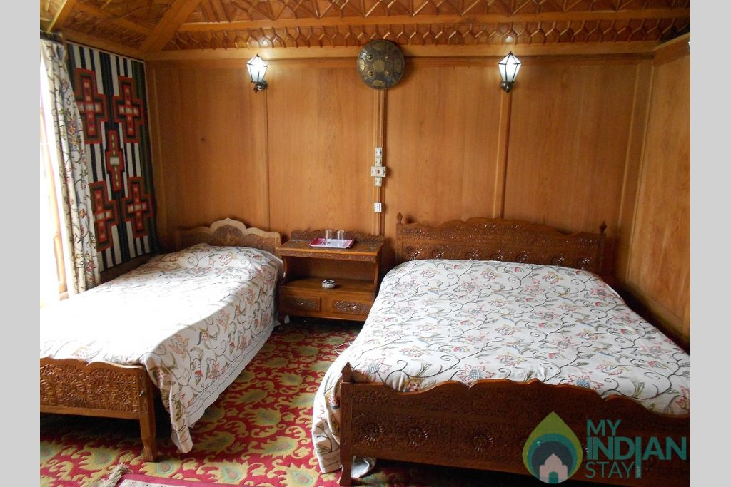Bed Room in a Boat in Srinagar, Jammu and Kashmir