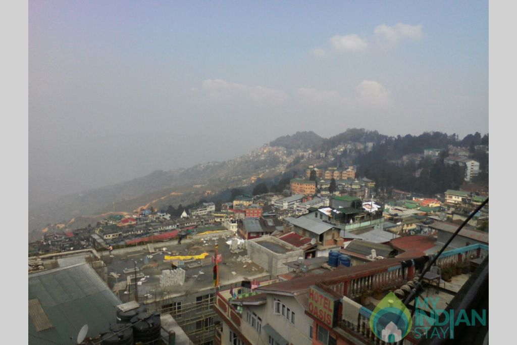 VIEW FROM ROOM 2 in a Hotel in Darjeeling, West Bengal