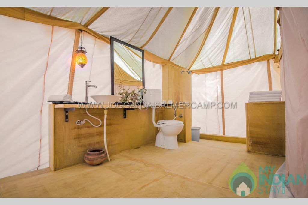 bathroom in a Tents in Jaisalmer, Rajasthan