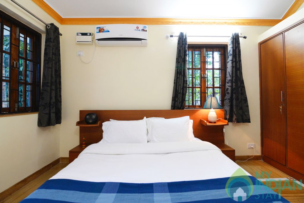 aparment bedroom in a Serviced Apartment in Benaulim, Goa