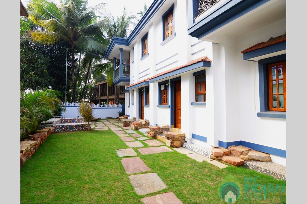 Lawn area in a Serviced Apartment in Benaulim, Goa