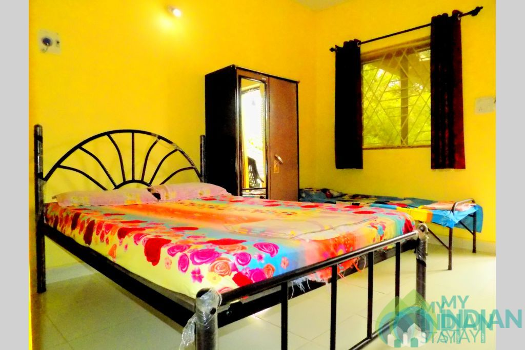Superior room interior in a Guest House in Anjuna, Goa