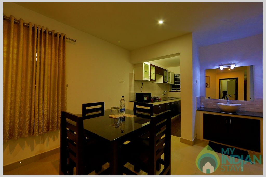 apartment  kitchen in a Serviced Apartment in Angamaly, Kerala