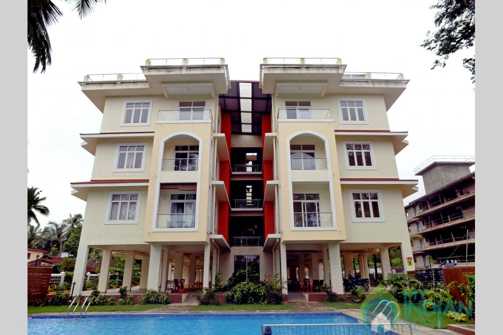 Acron outside-14 in a Serviced Apartment in Candolim, Goa