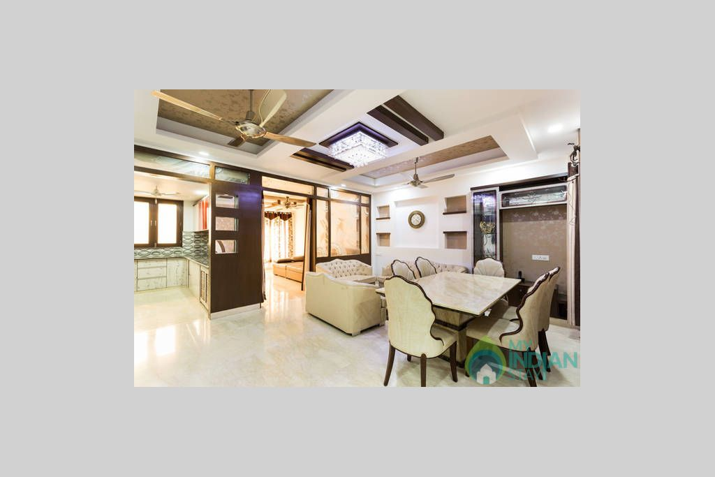 Living cum dining Room in a Self Catered Apartment in Delhi, Delhi