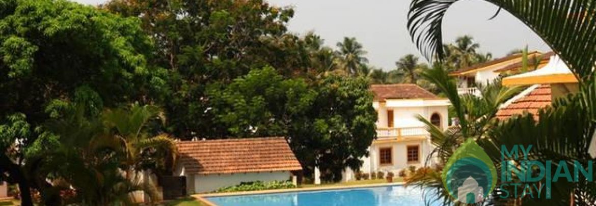 ♥TROPICAL♥ POOL View Ground Floor Apt, Candolim