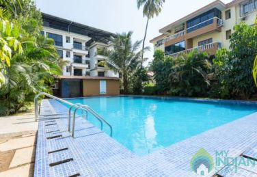 2 BHK with Split AC with Swimming pool