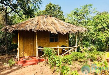 Eco hut in jungle resort in Agonda