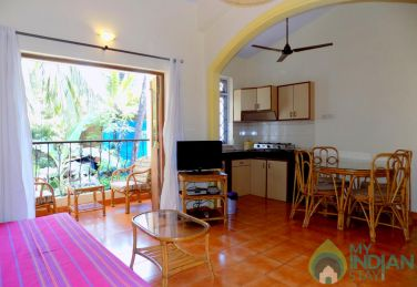 Elegantly Furnished 1 BHK Apartment In Baga, Goa