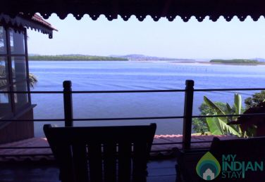 Wooden Chalet on the Banks of River Mandovi