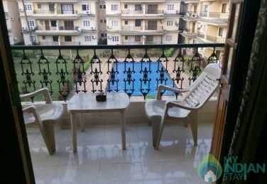 3 BHK Apartment in Calangute with pool facing