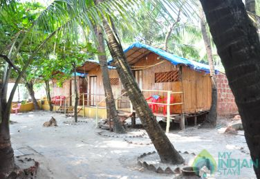 Furnished Bamboo Huts  in a Resort in Arambol