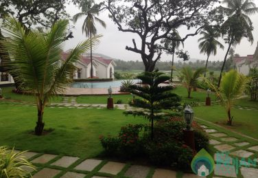 Pool facing fully furnished Apartment in Siolim